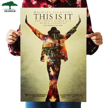 Dlkklb это Майкл Джексон плакат фильм крафт-бумага наклейки на стену Ретро плакат, крафт-бумага декоративные картины 50x35cm