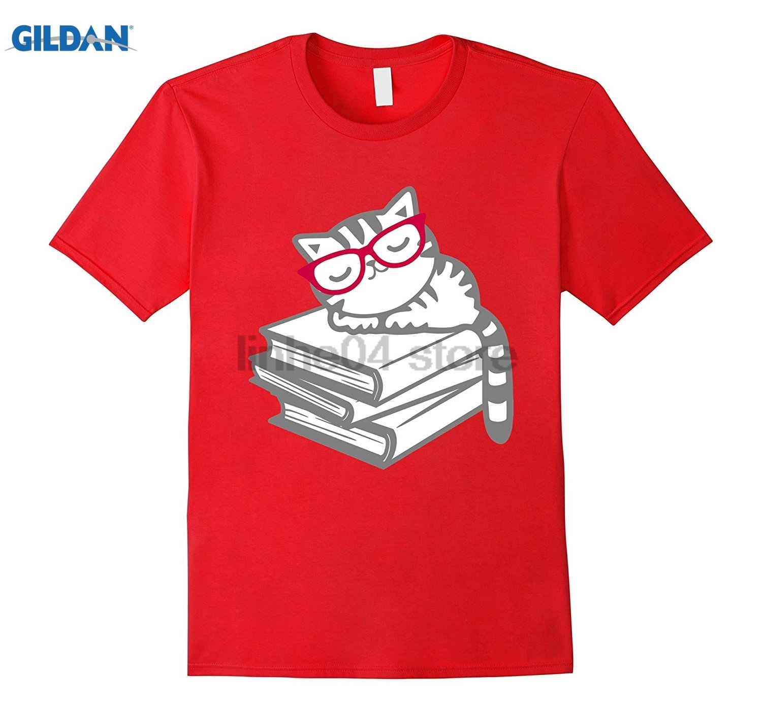GILDAN Book Nerd Reader with Glasses Cute Geek Funny T-Shirt Womens T-shirt Hot Womens T ...