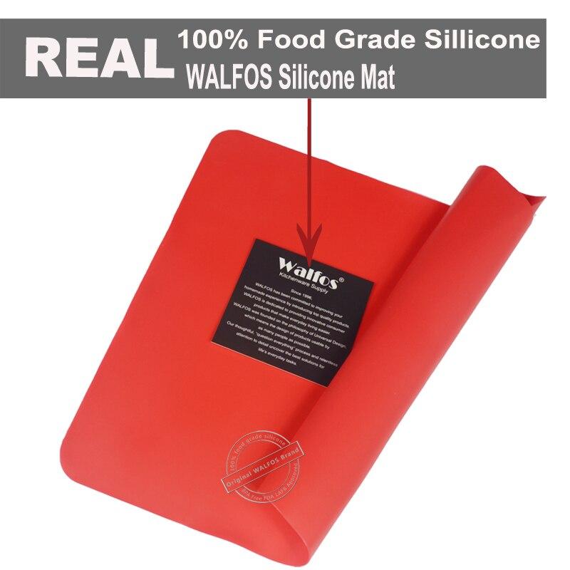 WALFOS 1 stück lebensmittelqualität backmatte Hitzebeständigkeit Tisch tischset Pad Silikon Ofen Matte Wärmedämmung Pad Backformen Tisch matte