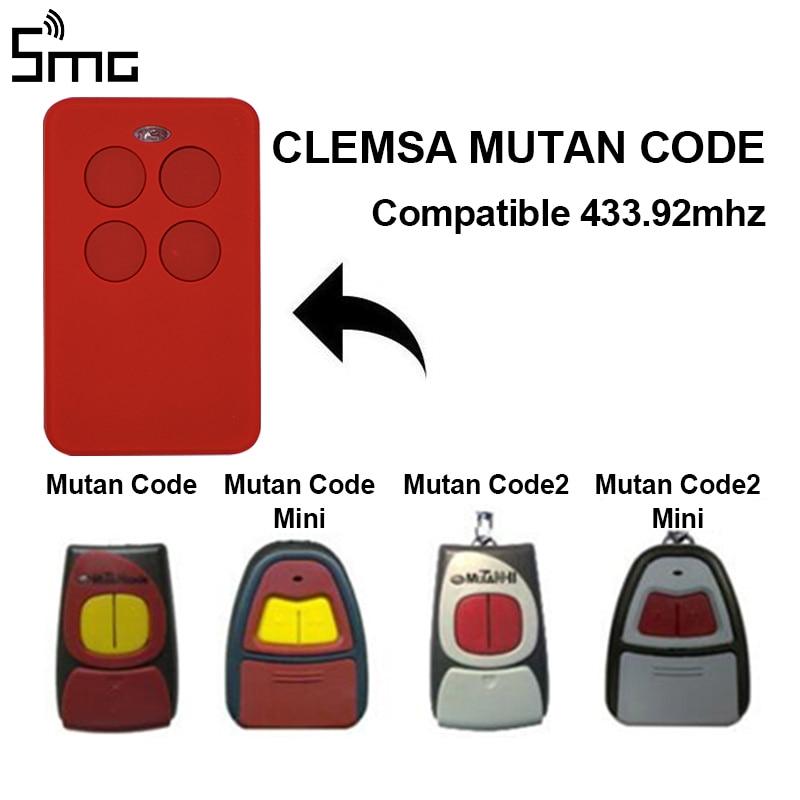 Universal Garage Control Clone For CLEMSA MASTERCODE MV1 MV12 MV123 433mhz Remote Garage Controller Rolling Code