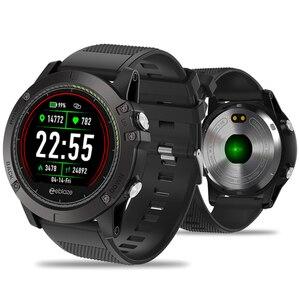Image 1 - Bluetooth inteligentny zegarek mężczyźni wodoodporny zegarek sportowy kolorowy ekran smartwatch z kontrolą tętna cyfrowy zegarek dla IOS Android