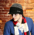 LANMER new wool hat Leisure street of wool knitted hat man free shipping in the winter