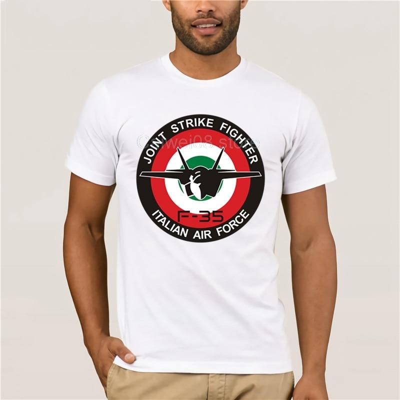 Men Printing Short Sleeve Tshirt Trend F35 Aeronautica Militare Sunlight New Summer Men's Casual Print Fashion T-shirt