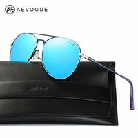 AEVOGUE Polarized Sunglasses For Men Women Quality Metal Frame Coating Mirror Summer Style Unisex Glasses With