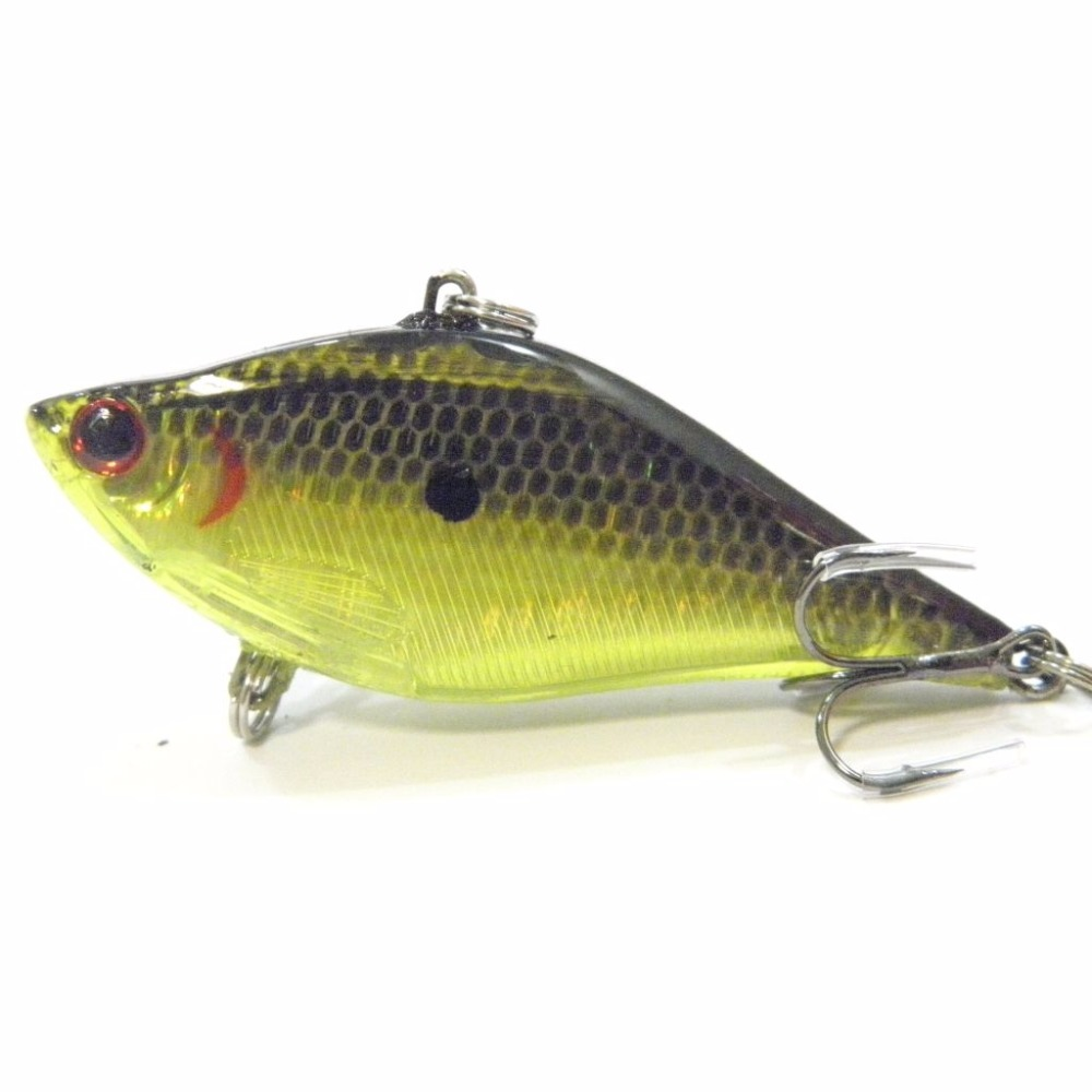 wLure Fishing Lure Lipless Trap Crankbait Hard Bait Sinking Bass Walleye Crappie Minnow  L697