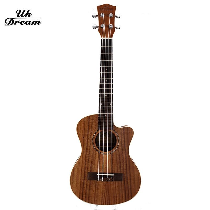 26 Inch Hawaiian Gitaar Houten Gitaren Muziekinstrumenten Professionele Kleine 18 Frets Chippen Gitaren Palissander Ukulele UT-C8Q