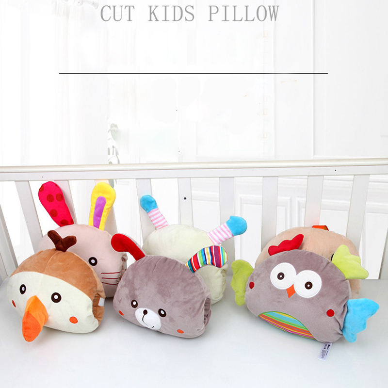 Newborn Cute Cartoon Animal Pillow Baby Appease Doll Child Heating Pillow Baby Plush Toy Baby Multifunction Doll Pillow Toy