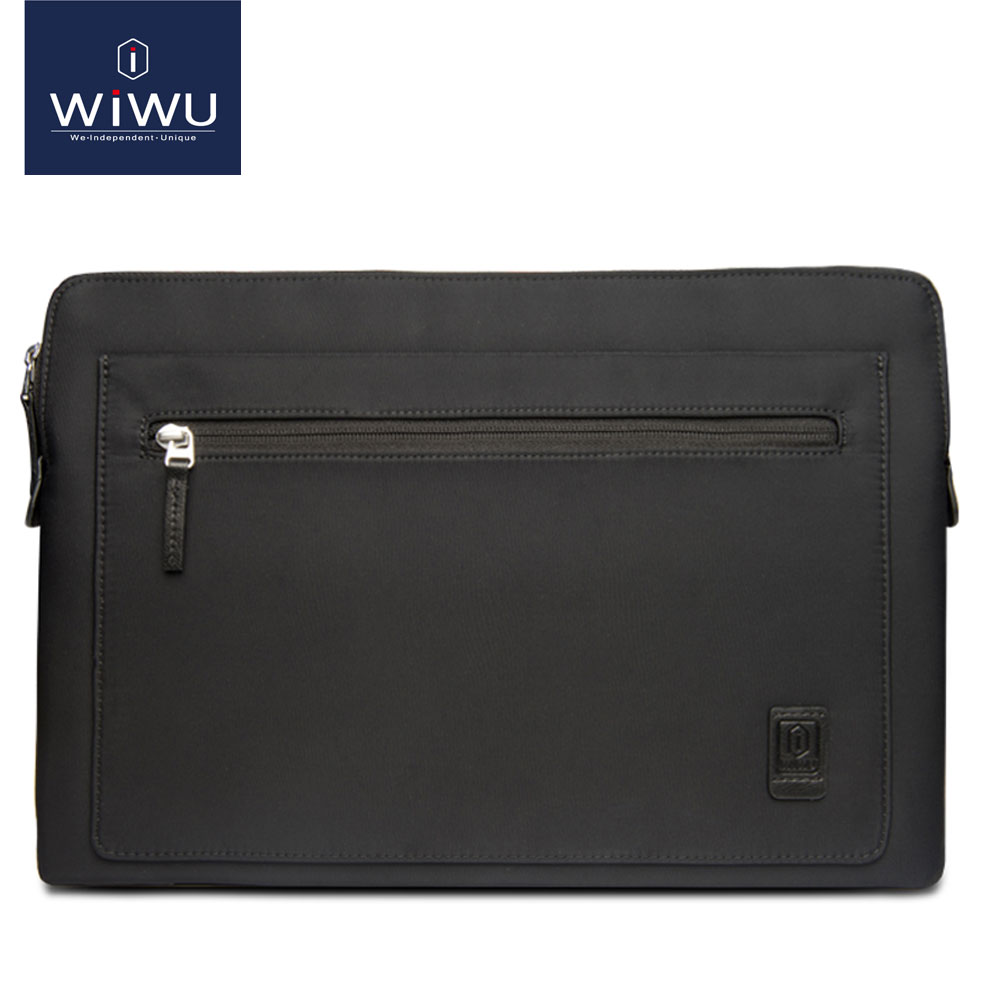 WIWU Laptop Bag for MacBook Air 13 Pro 13 15 Inch Black Notebook Bag Case for iPad Pro 12.9 Waterproof Nylon Laptop Sleeve 14.1 wiwu laptop sleeve for macbook air 13 inch water resistant pu leather case for macbook pro 13 15 inch ultra slim laptop bag case