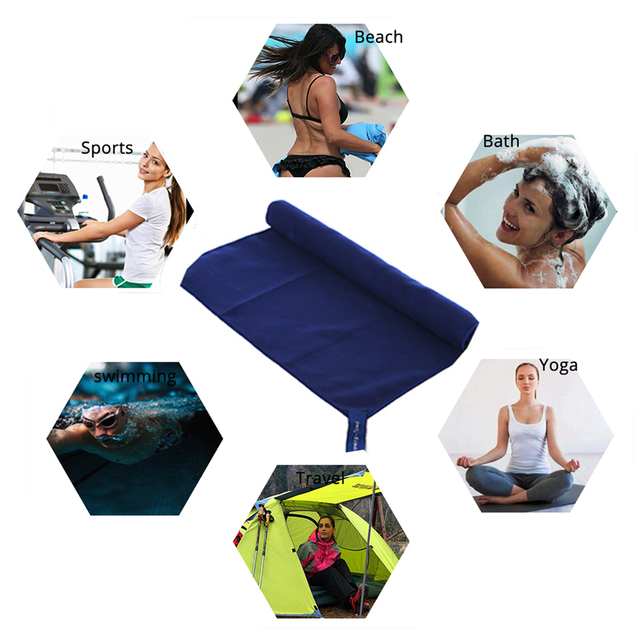 US $4.18 7% OFF|Zipsoft Brand Microfiber towel Travel Outdoor Hand Face  towels Antibacter quick dry Super absorbent Swimming Pool Camping Drying-in  ...