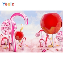 Yeele Pink Lollipops Candy Bar Party Baby Children Photography Backgrounds Customized Photographic Backdrops For Photo Studio