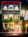 Luz led para arriba el kit para lego 10243 y lepin 15010 experto creador ciudad calle restaurante parisino modelo de juguete