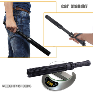 Image 4 - telescopic baton self defense flashlight led 18650 battery rechargeable car torch lamp waterproof zoom no electric shock light
