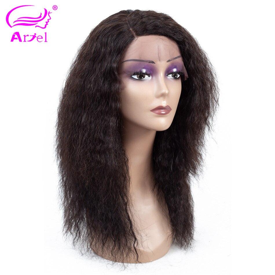 ARIEL 13*4 koronki przodu włosów ludzkich peruk Kinky prosto peruwiański Remy ludzki włos peruki naturalne kolor 130% gęstość peruki typu Lace Front dla kobiety w Peruki z ludzkich włosów na siatce od Przedłużanie włosów i peruki na AliExpress - 11.11_Double 11Singles' Day 1