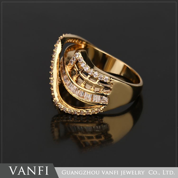 Hot Selling Shiny Full Zircon Ring Vintage Retro Antique Gold Silver Jewelry For Men And Women Wholesale