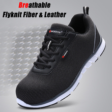 MODYF Men Steel Toe Safety Shoes For Men Lightweight Breathable Work Shoes Men's Security Footwear Protective Sneaker
