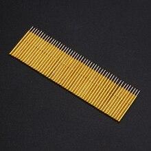 50 قطعة الربيع ضغط اختبار التحقيق بوجو دبابيس P75 B1 إبرة أنبوب ضياء 1.02 مللي متر الذهب كشتبان لأدوات اختبار موصل