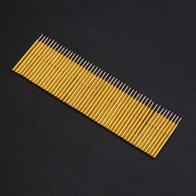 50pcs Spring Pressure Test Probe Pogo Pins P75 B1 Needle Tube Dia 1.02mm Gold Thimble for Conductive Test Tools