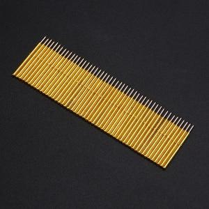 Image 1 - 50pcs Spring Pressure Test Probe Pogo Pins P75 B1 Needle Tube Dia 1.02mm Gold Thimble for Conductive Test Tools
