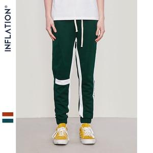 Image 4 - INFLATION Right Choice Side Letter Print Vintage Sweatpants Retro Trousers Men Track Pants Men Women Ins Fashion Pants 8841W