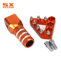 Orange CNC Rear Brake Pedal Step Tips And Gear Shifter Lever Tip Replacement For KTM EXC