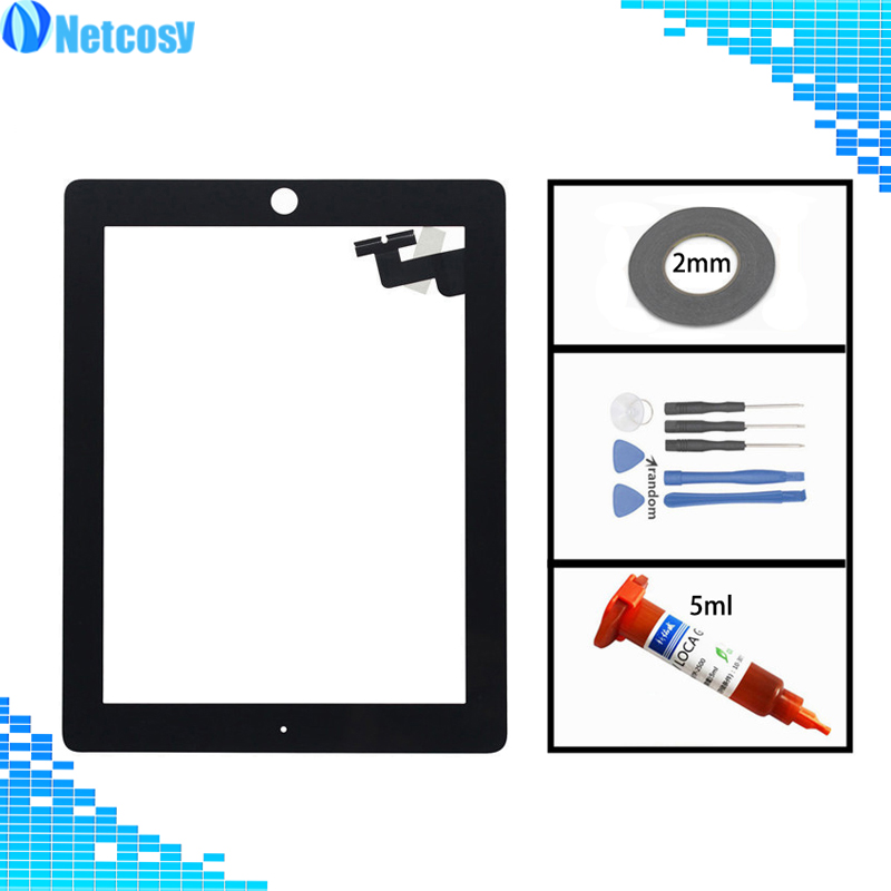 купить For ipad2 Touch screen digitizer glass panel Sensor replacement For ipad 2 A1395 A1396 A1397 tablet touch panel For ipad 2 по цене 662.3 рублей