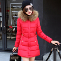 2016 New Fashion Winter Jacket Women Parka With Fur Hooded Warm Down Jackets Long Womens Winter Jackets And Coats Manteau Femme