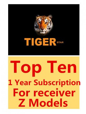 Tiger Star Top Ten 1 Year Subscription for Tiger Z280 Z400