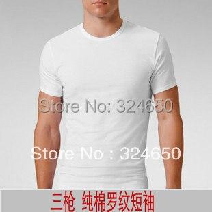 2 Piece Bsa 100% cotton <font><b>rib</b></font> <font><b>knitting</b></font> t-shirt male low o-neck male <font><b>short-sleeve</b></font> 100% cotton <font><b>short-sleeve</b></font> underwear A0549