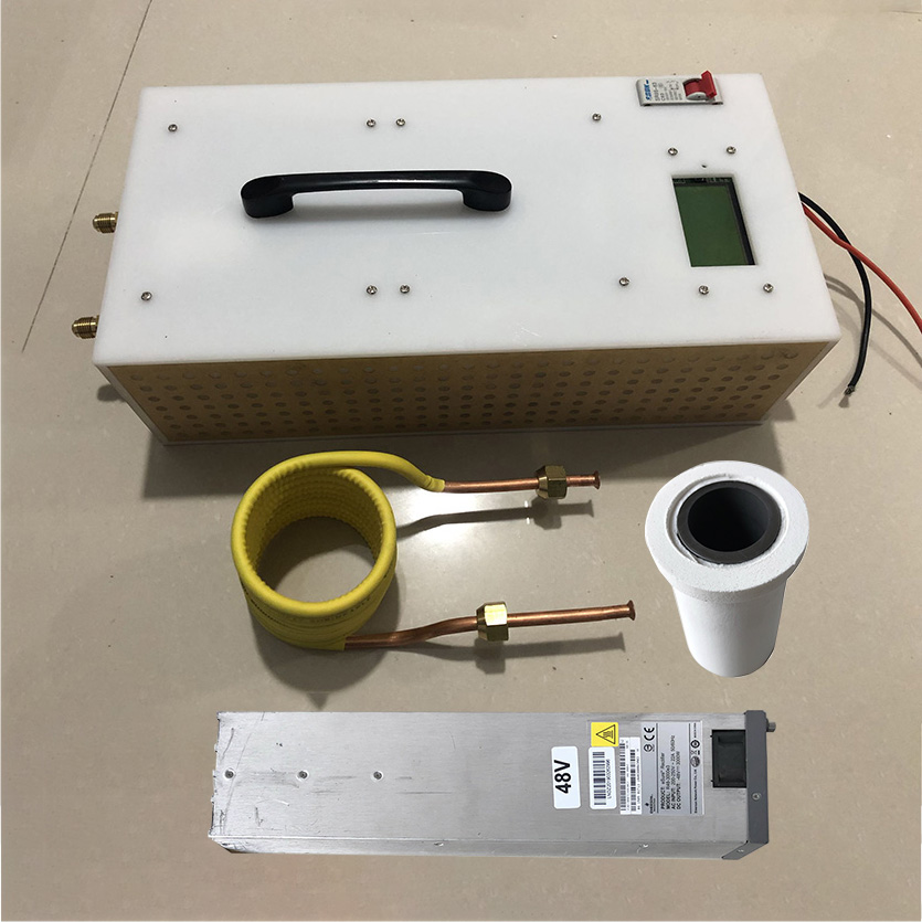 1 8KW 2 5KW Induction Heater High Frequency Induction Heating Machine Metal Smelting Furnace Crucible power