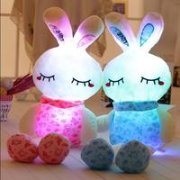 70CM Lovely Pink Rabit Plush Toys For Children Boy And Girls Night Luminous Plush Toy In