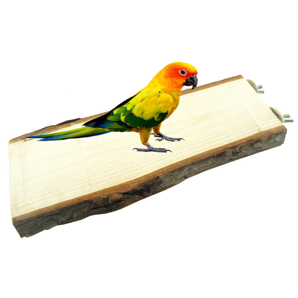 Parakeet Chew Toys : Parrot pet bird chew toy wooden hanging swing birdcage