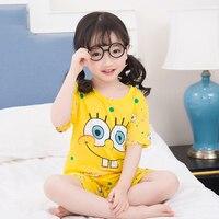 Летняя Детская Пижама для малышей, детская одежда для сна с короткими рукавами, детские пижамы с рисунками, пижамы для мальчиков-подростков,...