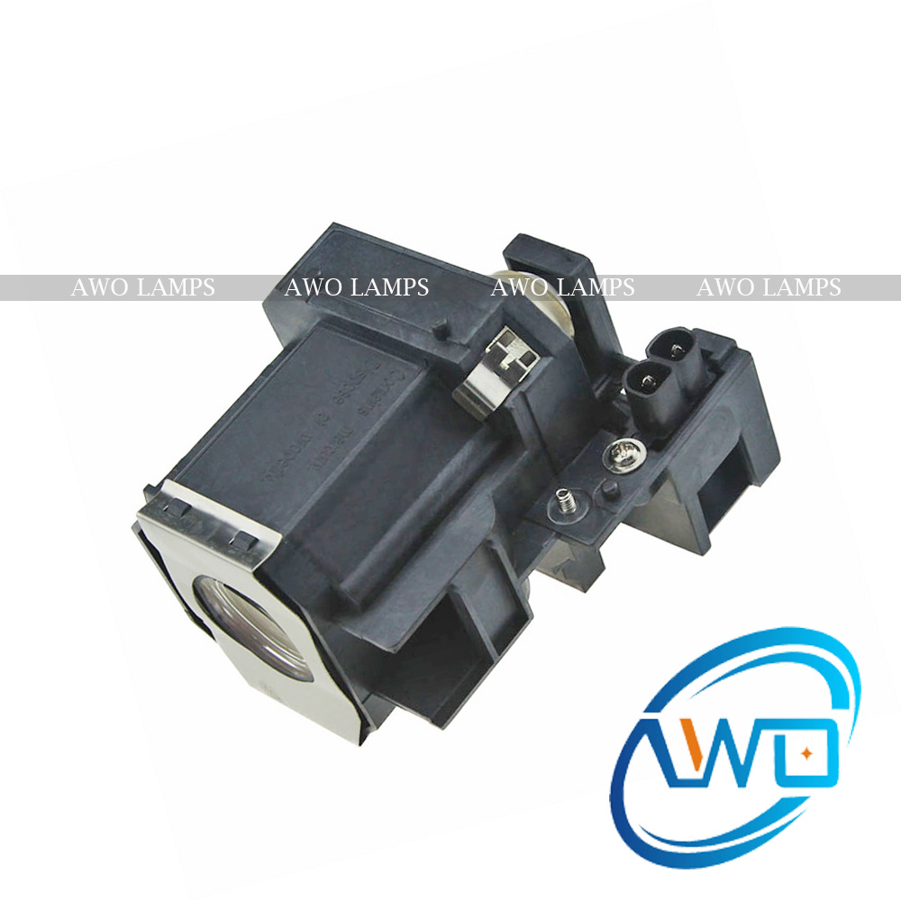 AWO Replacement Projector Lamp V13H010L35 for EPSON ELPLP35 EPSON PowerLite Home Cinema 400/PowerLite Cinema 550/MP-TW520/TW600 high quality elplp49 replacement projector lamp bulb for epson powerlite pro cinema 91009350 powerlite pro cinema 9700ub 9500ub