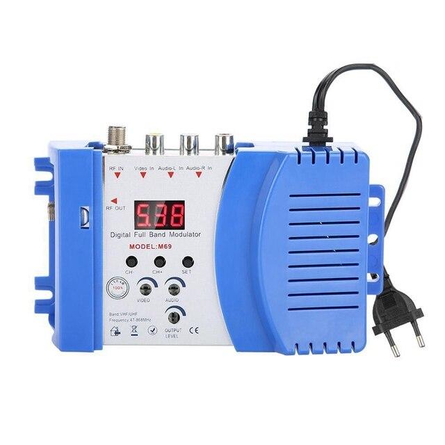 Professional Digital Vhf Uhf Rf Modulator Av To Rf Avto Tv Converter Adapter(Eu Plug)