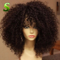 150% Brazilian Full Lace Human Hair Wig For Black Women Virgin Hair Kinky Curly Lace Front Human Hair Wig Glueless Full Lace Wig