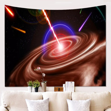купить Beautiful Night Sky Wall Tapestry Home Decorations Wall Hanging Forest Starry Night Tapestries For Living Room Bedroom по цене 520.4 рублей