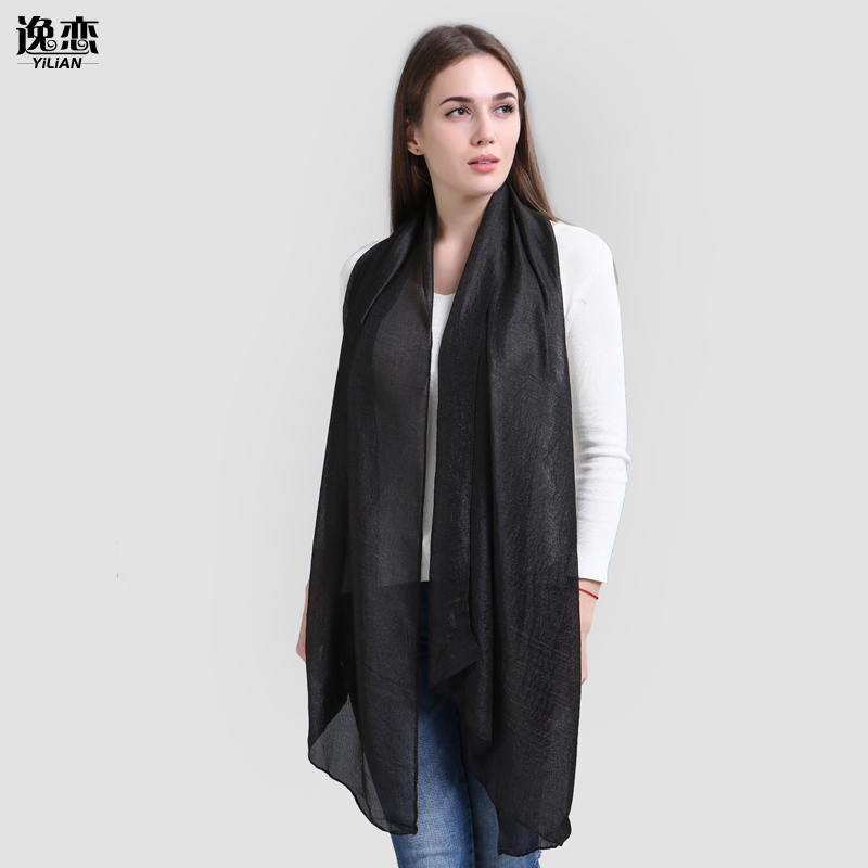 YILIAN Brand New Hot Sale Women Scarf Solid Smooth Fashion Lady Rayon High Quality Long Soft Scarf 8 Color SF944