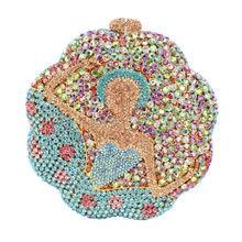 LaiSC luxus kristall evenig tasche mädchen muster koreanischen stil pochette party tag kupplung handtasche frauen braut hochzeit handtaschen SC169