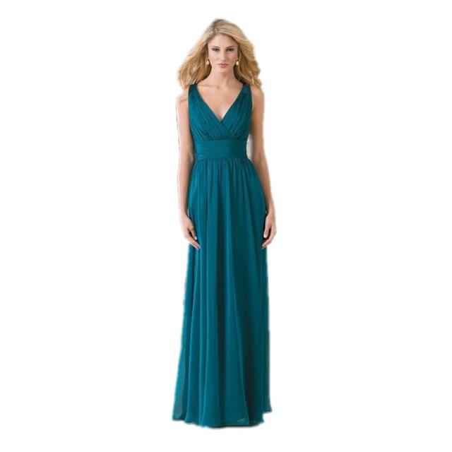 ea3b12ede2f US $128.4 |Vintage V Neck Teal Green Chiffon Plus Size Long Bridesmaid  Dresses A Line Lace Hollow Back Cheap Wedding Party Dress 2016-in  Bridesmaid ...
