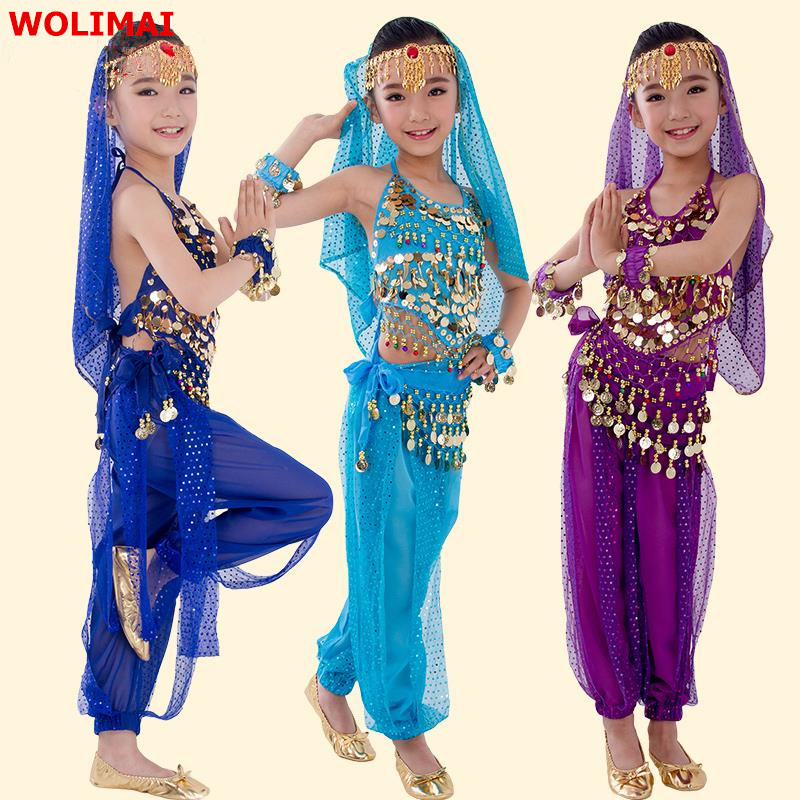 Belly Dance Cloth Children Costume Bellydance Costumes For Kids Belly Dancing Girls Bollywood Indian Performance Set