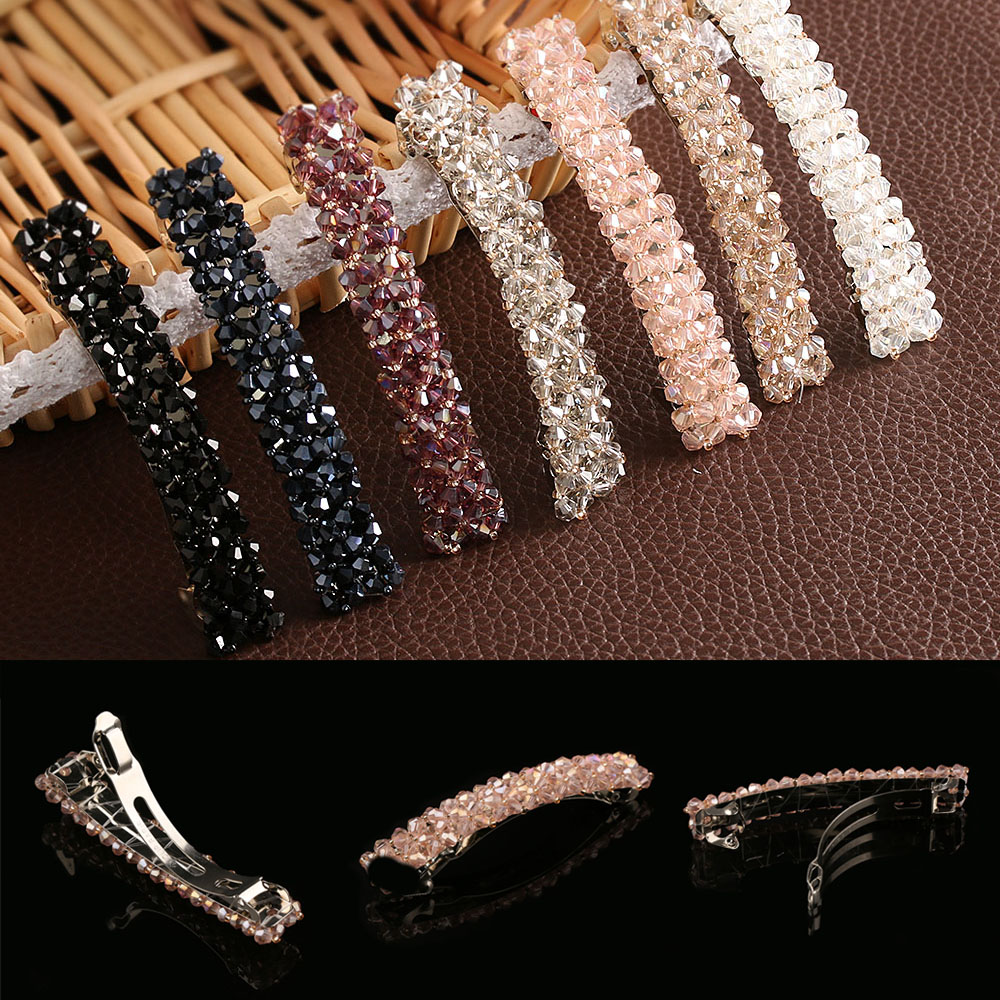 2019 Elegant Crystal Rhinestone Hairpin For Women Girls Pearl Bling   Headwear   Fashion Hair Clip Hair Accessories Ladies Gifts