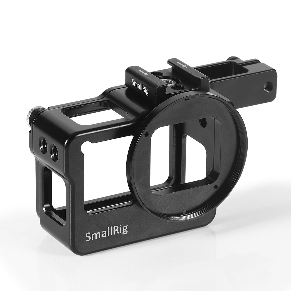 Image 2 - SmallRig Action Camera Vlogging Cage for GoPro HERO 7 / 6 / 5 Black For Microphone Flash Light DIY Options Aluminum Case CVG2320-in Camera Cage from Consumer Electronics