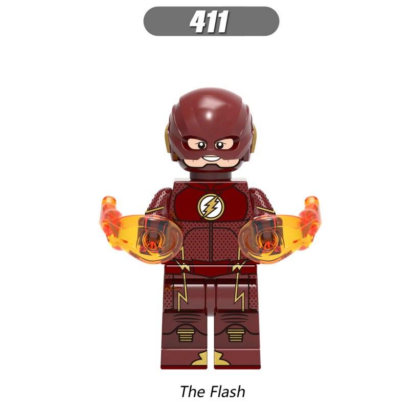 Single Sale Super Heroes Star Wars 411 The Flash Model Mini Building Blocks Figure Brick Toy Kids Gift Compatible Legoed Ninjaed