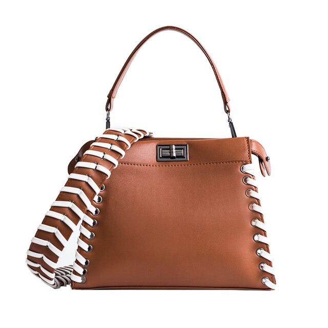 Amasie Women Leather Shoulder Bag Famous Luxury Brand Bags 2017 Fake Designer Kaboo