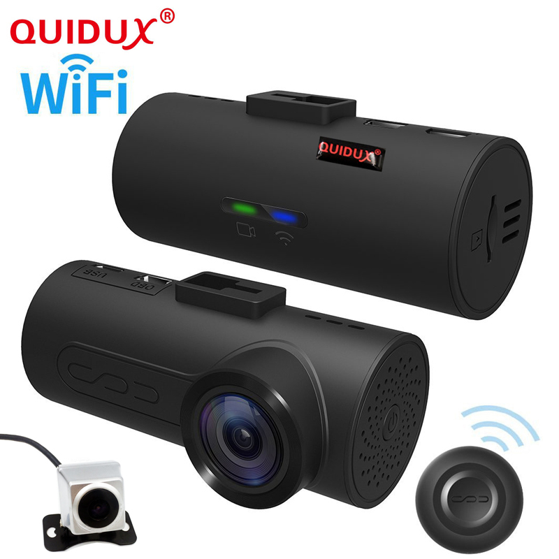 QUIDUX 2017 wifi GPS OBD ADAS Car DVR Car Camera Dash Cam Wireless Dual lens Video Recorder Dual Camera 1080P Full HD 165 Degree gps навигатор lexand sa5 hd