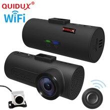 QUIDUX 2017 wifi GPS OBD ADAS Car DVR Car Camera Dash Cam Wireless Dual lens Video Recorder Dual Camera 1080P Full HD 165 Degree