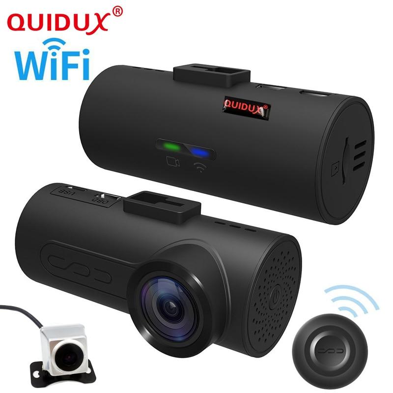 Здесь можно купить  QUIDUX 2018 wifi GPS OBD ADAS Car DVR Car Camera Dash Cam Wireless Dual lens Video Recorder Dual Camera 1080P Full HD 165 Degree  Автомобили и Мотоциклы