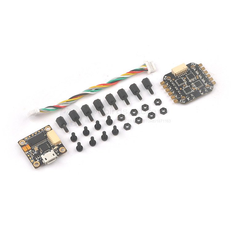 Teeny1S F4 fly tower Integrated OSD 4 in 1 6A BLheli_S ESC 1S 16mm x 16mm for DIY 60-110 FPV micro indoor quadcopter original emax f4 magnum all in one fpv stack tower system f4 osd 4 in 1 blheli s 30a esc vtx frsky xm rx