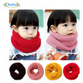 New Design Winter  Baby Boys Neckerchief Warm Soft Girls Candy Color Neck Bib Scarfs Kids Knitted Collar Scarf