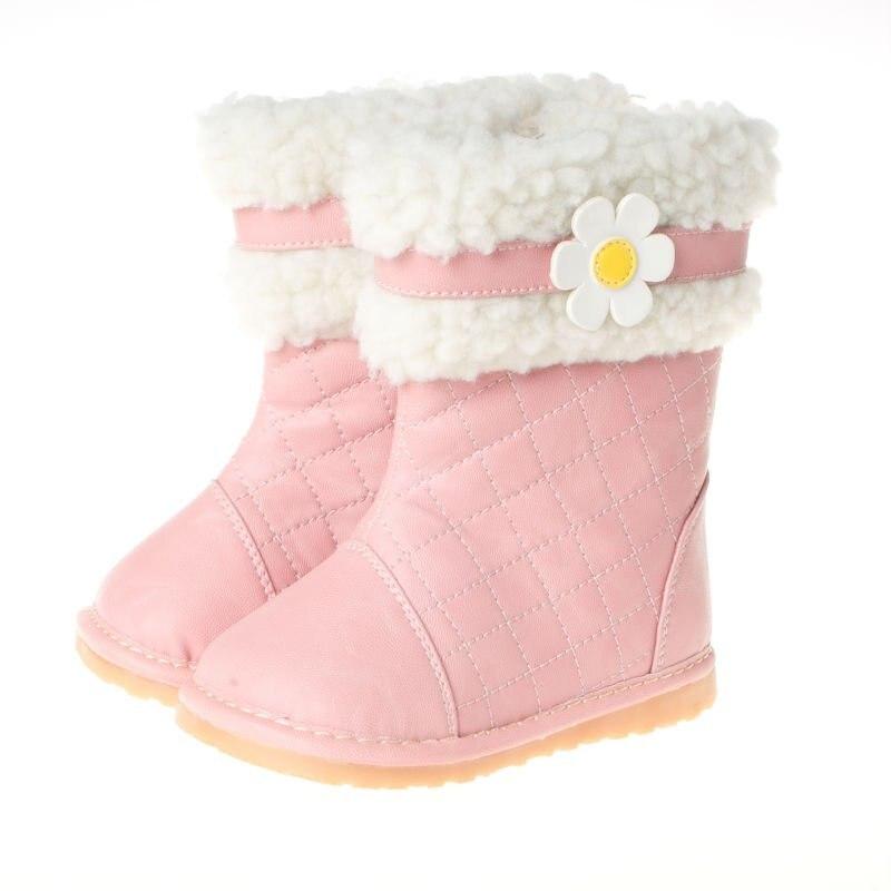 Online Shop girls cute kids winter boots,flower design, free ...
